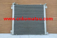 PC300-7 PC340 PC350 excavator oil cooler , 207-03-71641 207-03-71640